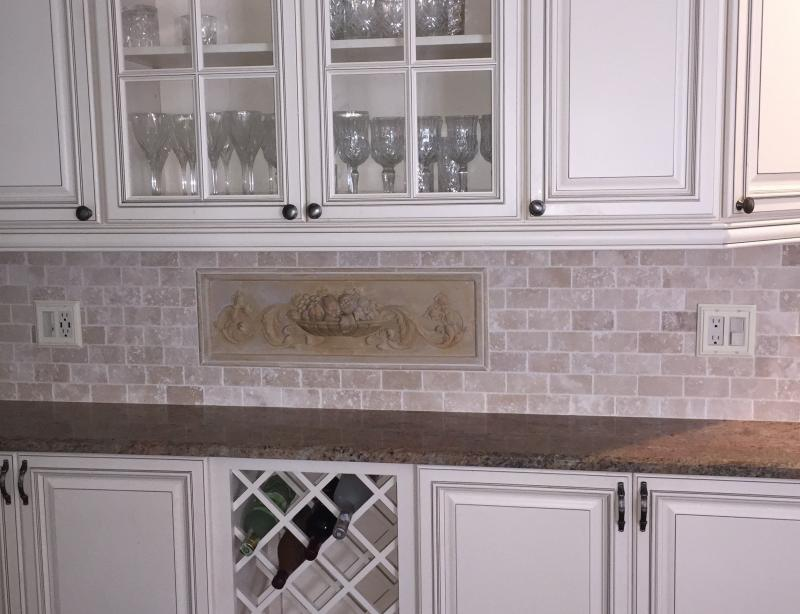 cheap backslash,kitchen design in Princeton, stone backslash,discount tiles